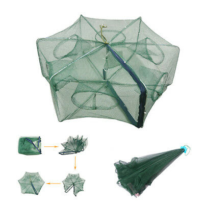 Foldable Fishing Net Trap Cast Dip Cage Fishing Bait Fish Minnow Crawdad ShrimpM