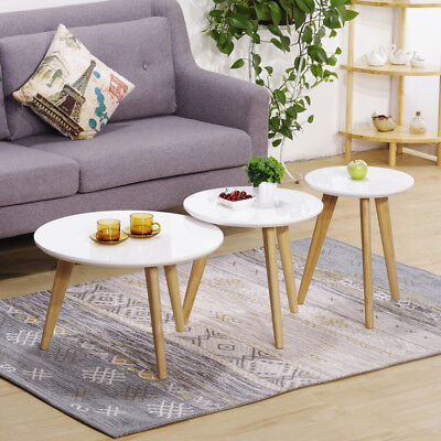 SET OF 3 Nest Scandinavian Side Table Retro Coffee Tea Tables High ...
