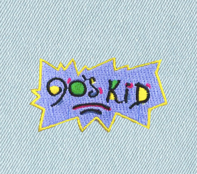 90s KID PATCH | DENIM ACCESSORY RUGRATS NINETIES CHILD BIRTHDAY IRON ON