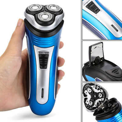 UK Brand New Rechargeable Electric Shaver 3D Triple Floating Heads Men's Razor