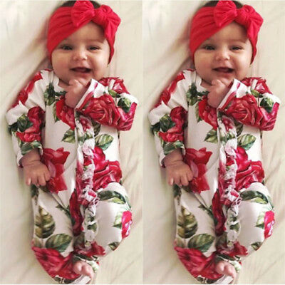 Newborn Infant Kids Baby Girl Bodysuit Romper Jumpsuit Outfit Boy Clothes Set