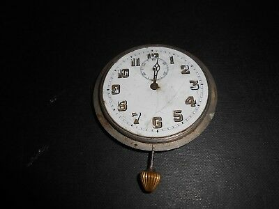 Art Deco Travel Watch Movement Balance Swinging Freely Made In France.