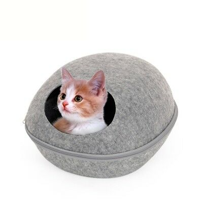 Cat Cave Beds Dog Puppy Pets Sleeping House Bed Mat Felt Warm Igloo Nest Caves