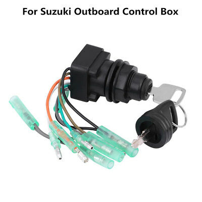 Motor Ignition Key Switch ASSY Keys for Suzuki Outboard Control Box 37110-92E01