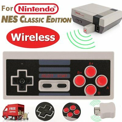 Wireless Game Controller Gamepad For NES Classic Edition Nintendo Mini Console B
