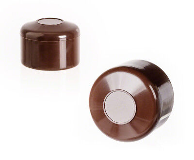 25 caps brown post end round plastic fence accessories cover tube pipe external