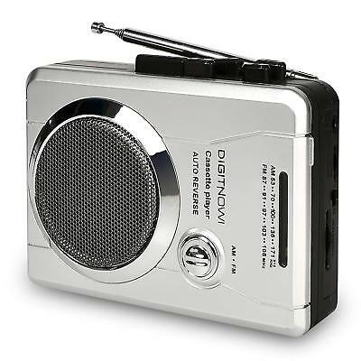 Portable AM/FM Radio&Voice Audio Cassette Player Recorder with Speaker&Earphone