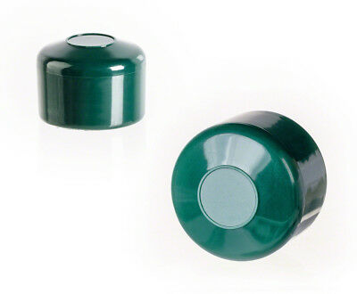 25 caps green post end cap round plastic fence accessories cover tube pipe plug