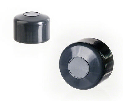anthracite post end cap round plastic fence accessories cover tube pipe