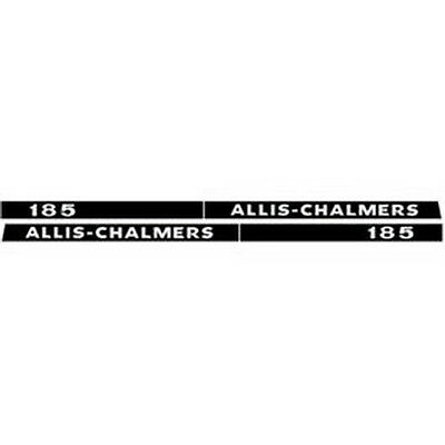 New 185 Allis Chalmers Tractor Hood Decal Set High Quality Vinyl Hood Decal Kit