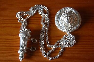 Rifle Officers Silvered Lions Head, Whistle and Chains.