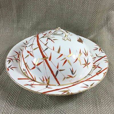Rare Minton Muffin Dish Food Dome Cover Victorian Aesthetic Porcelain Antique