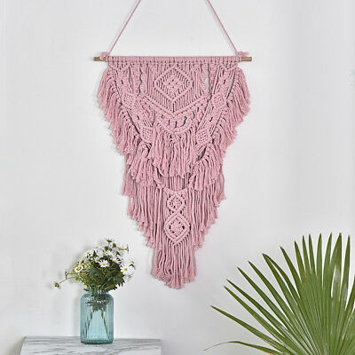 Macrame Woven Wall Hanging Tapestry Handmade BOHO Chic Bohemian Art Decor 30""