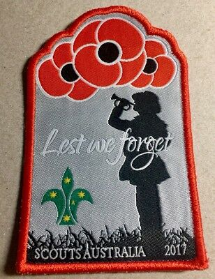 Scouts Australia - 2017 Lest We Forget - Anzac Day Badge