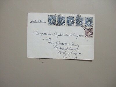 Nigeria 1949 cover with six stamps