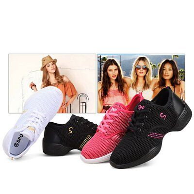 Female Dance Sneakers Soft Mesh Shoes Woman Jazz Ballroom Practicing Shoes AZ