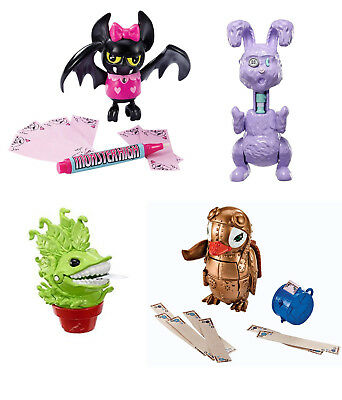 4 Pk Monster High Secret Creepers Critters - Chewlian,  Penny, Fabulous & Dustin