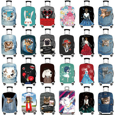 "Elastic Travel Luggage Cover Trolley Case Suitcase Stretch Protector 18"" - 32"""