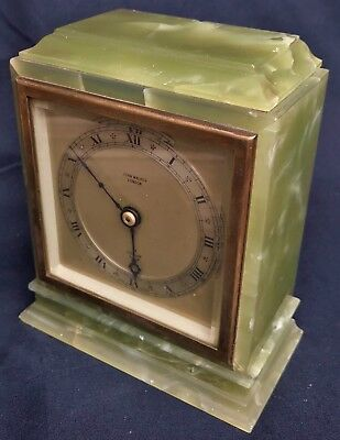 Stunning John Walker London Onyx Elliott Mantel Carriage Bracket Clock