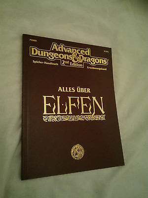 ALLES ÜBER ELFEN AD&D 2nd  ADVANCED DUNGEONS & DRAGONS SEHR GUT