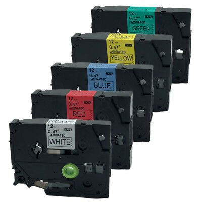 5PK TZ TZe 231-431-531-631-731Compatible for Brother Color Label Tapes PT-H105