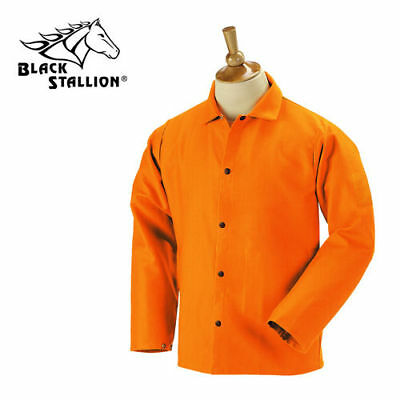 "NEW Revco Black Stallion F9-30C 9oz. 30"" Cotton FR Orange Welding Jacket S-2XL"