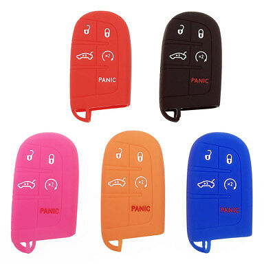 Universal 5-Button Silicone Key Fob Shell Cover Case For Jeep Chrysler Dodge 1pc
