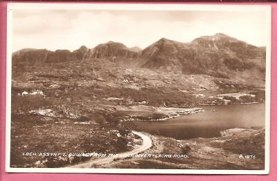 Loch Assynt & Quinag from The Lochinver-Lairg Road, Scotland postcard Real Photo