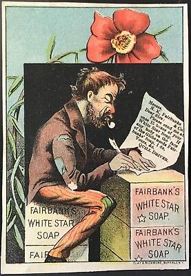 Messy Quill Driver Writes Letter Requests Fairbanks White Star Soap ~ Red Poppy