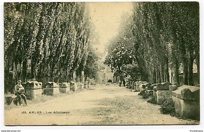 CPA-Carte postale France Arles - Les Aliscamps - 1907 ( CP4487 )