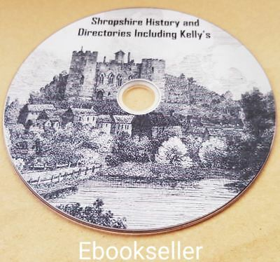 ebooks, 85 of Shropshire history, & directories & kellys directories, on disc
