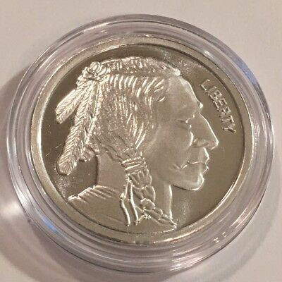 BUFFALO  1/2 oz INDIAN HEAD SILVER ROUND .999  PROOF BULLION COIN  BU  #3792