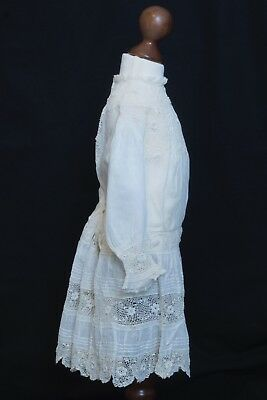 Victorian babies cotton and lacework dress superb quality and condition
