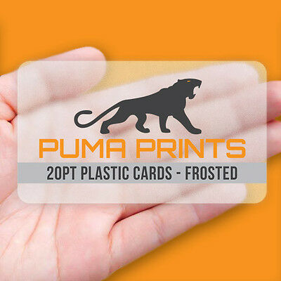 1000 Full Color 20pt FROSTED PLASTIC Business Cards - Rounded Corners!