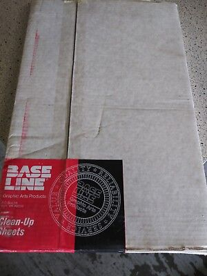 "Base Line Clean Up Sheets Hamada 600, 660, 665 H-600-PB 11 7/8"" x 18 1/32 Pinbar"