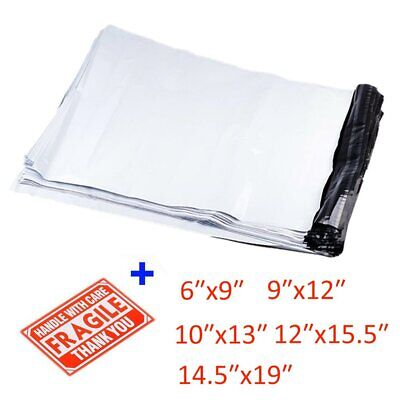 Poly Mailers 100 Shipping Envelopes Self Sealing Plastic Mailing Bag 6x9 12x15.5