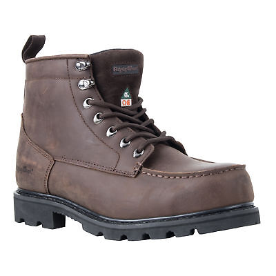 f3ae7391a1e654 RefrigiWear Men s Moc-Toe Waterproof Puncture Resistant Brown Leather Work  Boots