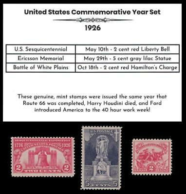 1926 US Postage Stamps Complete Commemorative Year Set Mint