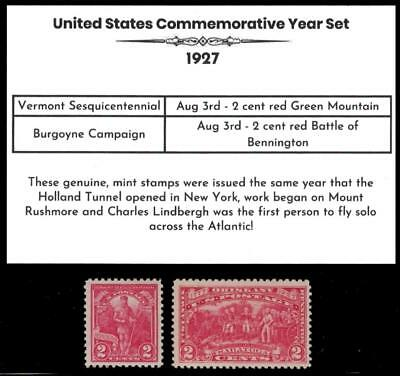 1927 US Postage Stamps Complete Commemorative Year Set Mint