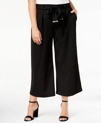e559702950808 NY Collection Women s Pants Culotte Belted Pleated Plus Size 3X MSRP  54.00