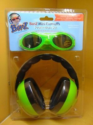 Baby Banz Earmuffs and Infant Hearing Protection and Sunglasses Combo 0-2 Years