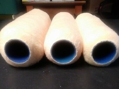 """Lot Of 3 Mixed Nap 9"""" Blue Core Paint Roller Cover Factory 2Nds  Bcm9"""