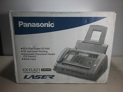 Panasonic KX-FL421 Monochrome Fax Communications with Laser Print