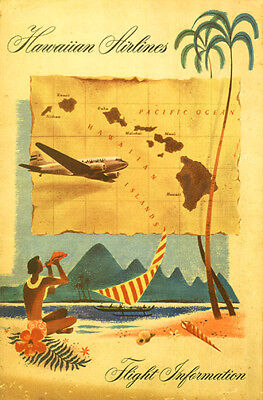 Hawaiian Airlines Flight information front cover Illustration