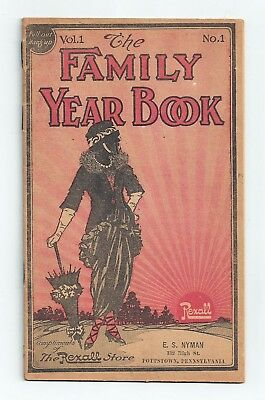 Vol.1 No.1 The Family Year Book, The Rexall Store, Pottstown, Pennsylvania