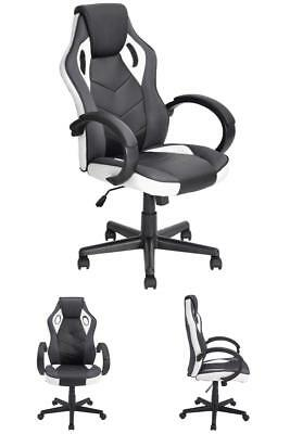 Computer Gaming Racing Chair Office PU Leather Executive Swivel Task Desk Chair