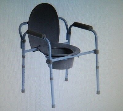 Drive Medical Steel Folding  Commode , Weight Capacity 350 LB