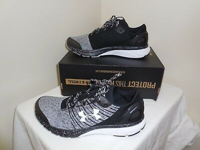 official photos 05280 18130 Under Armour Charged Bandit 2 Men Sz 10 Black Gray White Running Sneaker  Shoes