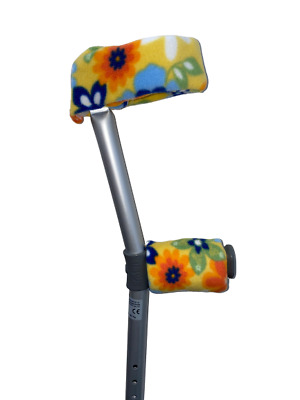 NEW!!! Padded Handle Comfy Crutch Sleeves!! - Summer Flowers