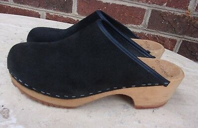 Blue Suede Clogs by Ulla Made in Sweden